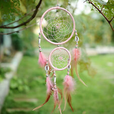 Pink Dream Catcher With feathers Wall Hanging Decoration Ornament Gift Shell