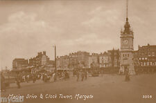 Postcard Margate Kent early view of Marine Drive and Clock Tower RP by Philco