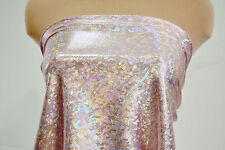 SHATTERED GLASS SPANDEX HOLOGRAM LIGHT PINK   DANCE GYMNASTIC LEOTARD COSTUME