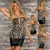 SEXY WOMEN CLUBBING CHEAP BLOUSE SHIRT LEO LOOK LADIES PARTY TOP SIZE 6 8 10 S M