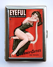 Pin up Sultry Cigarette Case Wallet Business Card Holder retro rockabilly