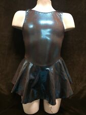 NEW MotionWear Ice Skating Skate Dress Teal Foil Girls 6/7 Intermediate