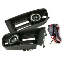 Fog Light Grille LED Angel Eyes with Wiring for VW POLO 01-04 2002 2003 CA00