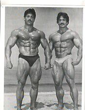 RAY MENTZER/MIKE MENTZER Beach Bodybuilding Muscle Photo B+W
