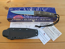 CAMILLUS CQB1SG CLOSE QUARTERS BATTLE KNIFE BY TERZUOLA 154CM  MICARTA KYDEX USA