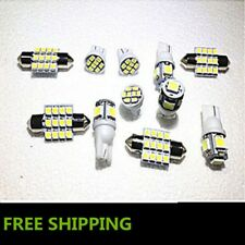 11PC White LED Lights Interior Package for T10 & 31mm Map Dome + License Plate