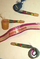 1960s DAIRY QUEEN PAPER BLOW-OUT PARTY FAVOR WHISTLES made in JAPAN ice cream DQ