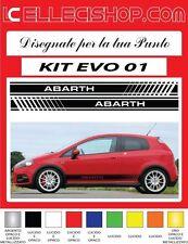 ADESIVI FIAT PUNTO, ABARTH, EVO GRANDE PUNTO FASCE LATERALI KIT EVO 01