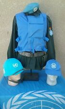 UN Belgian Army Peace Keeper Military Grouping-Helmet, Beret, Flag,Vest * Rare*