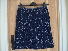 BNWT White Stuff Navy White Gladstone Skirt Size 10
