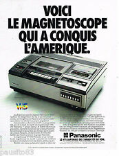 PUBLICITE ADVERTISING 065  1979  PANASONIC  magnétoscope VHS