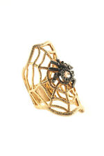 Rarities Clear Rhinestone Sterling Silver Spider Statement Ring Size 6 New $800