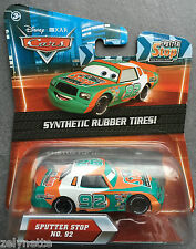 DISNEY CARS SPUTTER STOP #92 KMART SYNTHETIC RUBBER TIRES MATTEL N°92 NEUF PIXAR