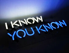 "Brand New 'I know you know' Beer Bar Pub Decor Art Real Neon Light Sign 13""x6"""