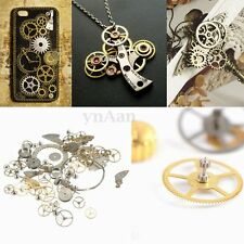 10g Vintage Steampunk Jewellery Gears Cogs Cyberpunk Wrist Watch Parts Art Craft