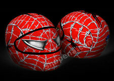 Spiderman Helmet Cover Wired Web Red Motorcycle Full Face Skin Street Sport Bike