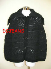 ELEGANT NEW $925 TSE BLACK WOOL CASHMERE KNIT SWEATER CAPE MUST HAVE AUTHENTIC