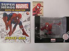 MARVEL SUPER HEROS BUSTE SPIDER-MAN EN RESINE + CERTIFICAT + LIVRET ALTAYA NEUF