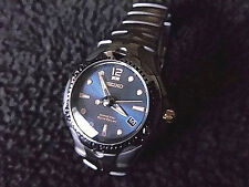 Seiko SMA113 Mens Blue Face 20 Bar Sport Diver  Kinetic Auto Relay 5J22-0A50