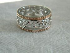 Clogau Silver & 9ct Welsh Gold Tree of Life Ring RRP £330.00 size P