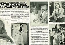 Coupure de Presse Clipping 1977 (2 pages) Droles de Dames farrah fawcett Majors
