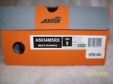 "Men's Avia Sneakers ""A5034MSRX"" (Shoes)~Size 9 M~Grey,Red,Black~Running"