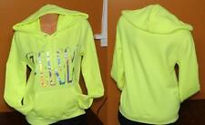 "Victoria's Secret PINK Pullover Hoodie YELLOW  Size MEDIUM  ""PINK"" FOIL NWOT"