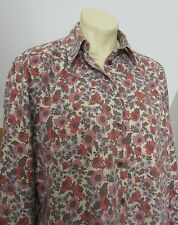 Vintage Country Collection Liberty style floral soft cotton & wool blend shirt L