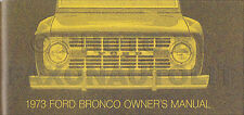 1973 Ford Bronco Owners Manual 73 Owner User Instruction Guide Book