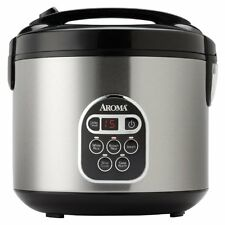 Aroma Housewares FOOD STEAMER, 20 Cup Cooked Stainless Steel Digital RICE COOKER