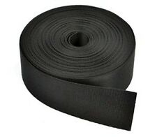 Cosmos  1 1/2 Inches Wide 10 Yards Black Nylon Heavy Webbing Strap with Cosmos