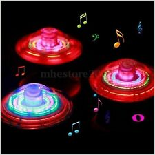 Flash LED Light Laser Color Music Gyro Peg-Top Spinner Spinning Children Toy NEW