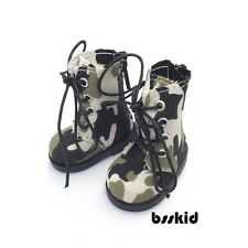 "Y05 BJD Yo-SD 1/6 Dollfie 13"" Effner Camouflage GREY LITTLE DARLING Doll Boot"