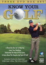 KNOW YOUR GOLF - 3 DVD BOX SET - UNDERSTANDING THE RULES, REDUCE HANDICAP & MORE
