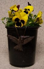 Flower Pot Hugger Cast Iron Bird #2 NEW bronze toned