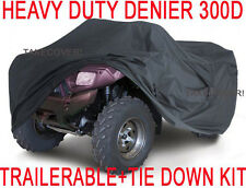 Honda Polaris Yamaha Kawasak ATV Trailerable Cover HEAVY DUTY + TIE DOWN KIT L1