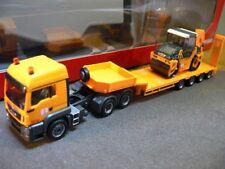1/87 Herpa MAN TGS LX Semitieflade-SZ mit Hamm Tandemwalze DV 90 Max Bögl 305785