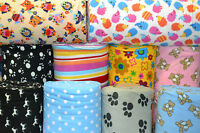 Polar fleece anti pill fabric washable soft material Mixed designs *FREE P&P*