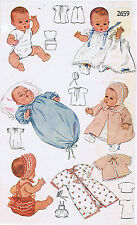 "2659 Vintage Baby Doll Clothes Pattern - Size 8"" - Year 1948"