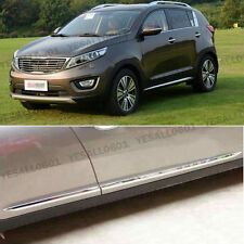 Stainless Steel Body Side Door Cover Protector Molding Trim kit For KIA Sportage