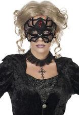 Gothic Spinne Augenmaske schwarz NEU - Karneval Fasching Maske Gesicht