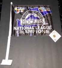2007 Colorado Rockies National League Champs World Series car flag 2 sided New