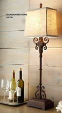 FARMHOUSE ANTIQUE IRON SCROLL LAMP MODERN FRENCH COUNTRY TUSCAN DECOR FURNITURE
