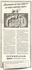 VTG 1941 Caterpillar DIESEL Electric Set Generator Electricity Power Plant Ad
