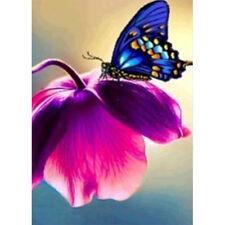 DIY Flower and Butterfly 5D Diamond Embroidery Painting Cross Stitch Home Decor