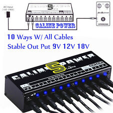 Guitar Effect Pedal  Power Supply 9V 12V 18V 10 Ways CH For Caline Boss Digitech