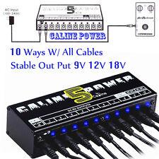 Guitar Effect Pedal  Power Supply 9V 12V 18V 10 Ways CH For Caline Boss Digitech