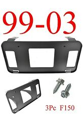FO1068120 3Pc 03 F150 Front License Plate Bracket, Ford, W/ Hardware