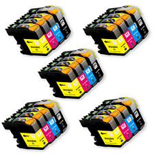 20 PK Printer Ink Set + Chip for Brother LC201 MFC-J460DW MFC-J480DW MFC-J485DW