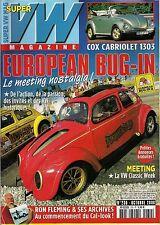 SUPER VW MAGAZINE N°230 EUROPEAN BUG IN/COX CABRIOLET 1303 OCTOBRE 2008